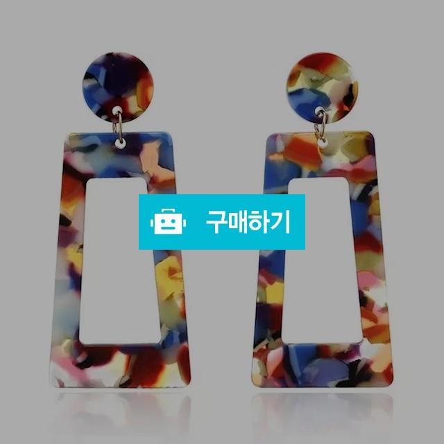 [티타늄] - 컬러 사다리꼴 아크릴여름귀걸이 / Osring님의 스토어 / 디비디비 / 구매하기 / 특가할인