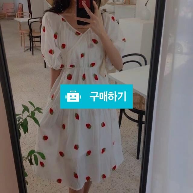 딸기 면 원피스(나시 세트) / 장위동홍당무님의 스토어 / 디비디비 / 구매하기 / 특가할인