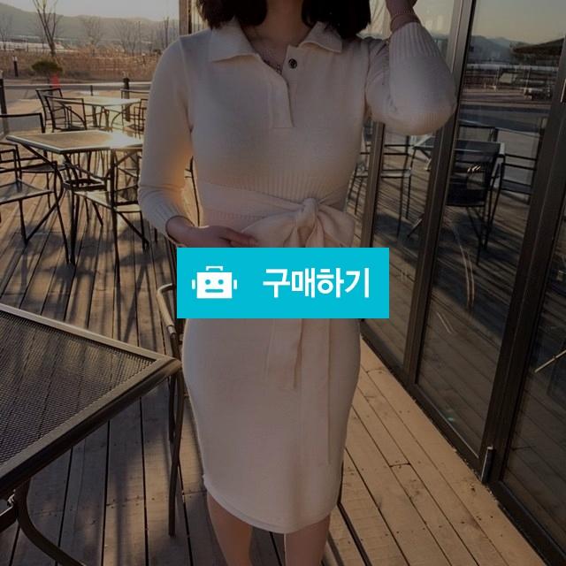 슬림 일자핏 카라 니트 원피스 / 제이다인 / 디비디비 / 구매하기 / 특가할인