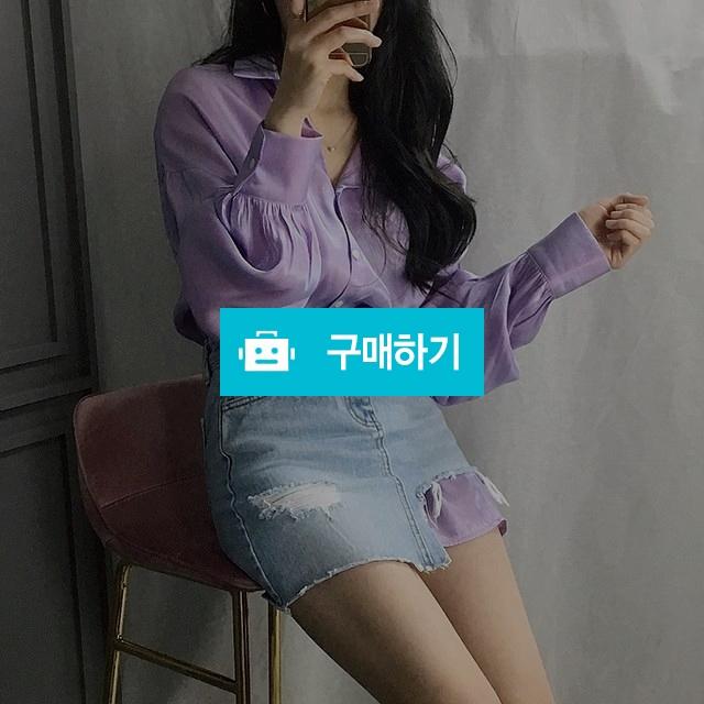 루즈핏 벌룬 샤틴 셔츠 블라우스 / 비비드글로우 / 디비디비 / 구매하기 / 특가할인
