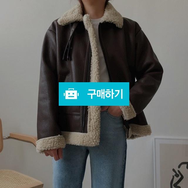 오버핏 양털 하이넥 스트랩 여성 가죽 무스탕 자켓_2col / 리버스튜디오 / 디비디비 / 구매하기 / 특가할인
