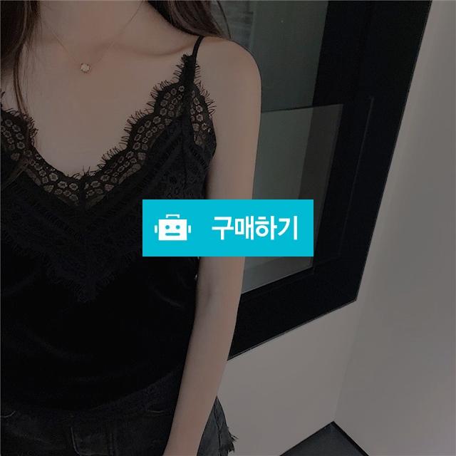 벨벳 레이스끈나시 / 여성쇼핑몰 이즈굿 / 디비디비 / 구매하기 / 특가할인