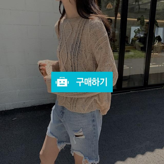 누보 꽈배기 그물니트 / 시은씨 스토어 / 디비디비 / 구매하기 / 특가할인