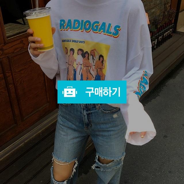 루즈핏 긴팔 라운드 프린팅 티셔츠 / 코마니에님의 스토어 / 디비디비 / 구매하기 / 특가할인