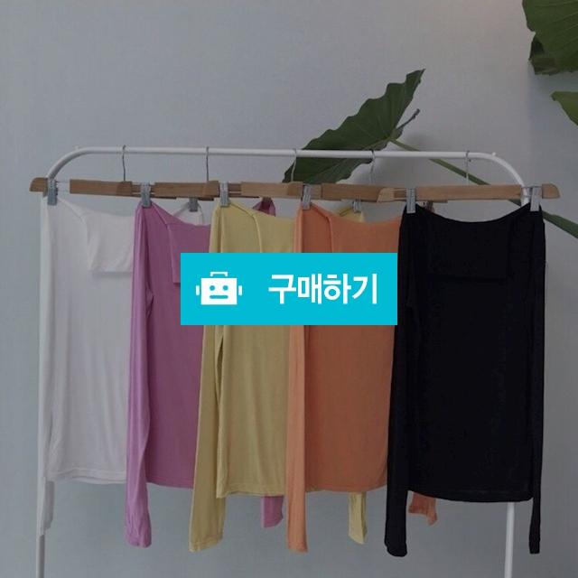 컬러 슬림핏 목폴라 소매 트임 티셔츠 / 마니에르님의 스토어 / 디비디비 / 구매하기 / 특가할인
