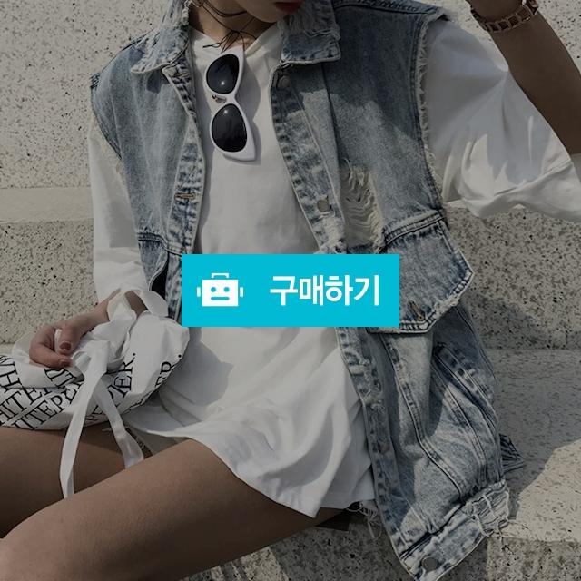 빈티지 워싱 데님 여름 베스트 청조끼 루즈핏 E16 / 뉴엔 / 디비디비 / 구매하기 / 특가할인