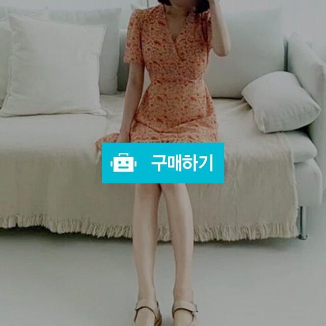 브이넥 랩 프릴 쉬폰원피스 / 멜로디로즈 / 디비디비 / 구매하기 / 특가할인