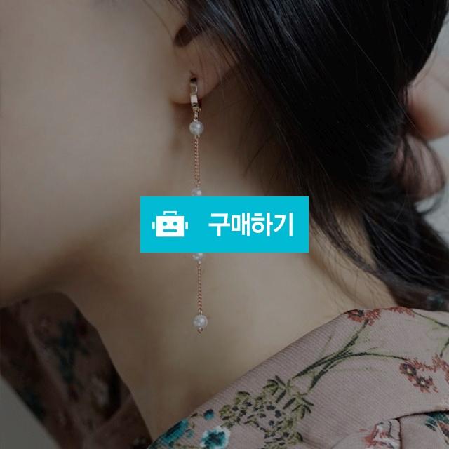 14k금침 로즈골드 진주 드롭귀걸이 / 손수메이크 / 디비디비 / 구매하기 / 특가할인