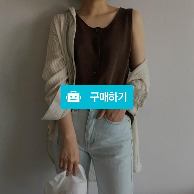 (시즌오프sale)민소매 단추 나시티 / 라뜨라 / 디비디비 / 구매하기 / 특가할인