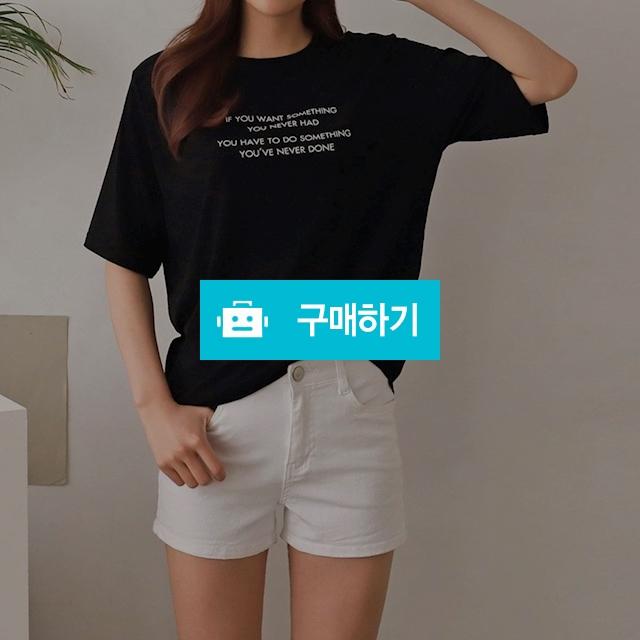 여자 영문 레터링 4컬러 베이직 여름 티셔츠 / 옷자락 / 디비디비 / 구매하기 / 특가할인