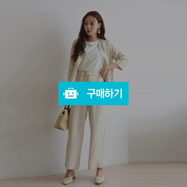 린넨 일자핏 벨트 바지 자켓 세트 (2PS) / 겟잇미 / 디비디비 / 구매하기 / 특가할인