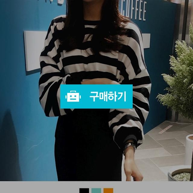 벌룬 소매 오버핏 단가라 티셔츠  / 바비켄 / 디비디비 / 구매하기 / 특가할인