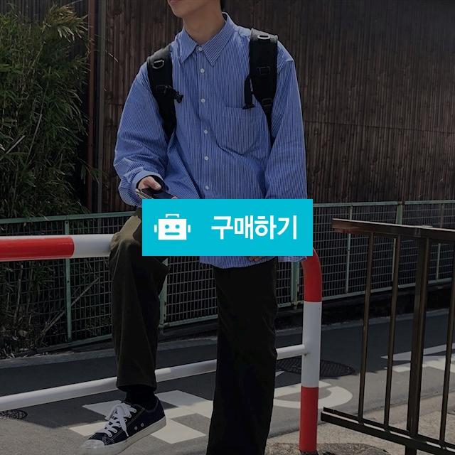 유니섹스 오버핏 스트라이프 셔츠 [2color] / 다쿠니마켓님의 스토어 / 디비디비 / 구매하기 / 특가할인