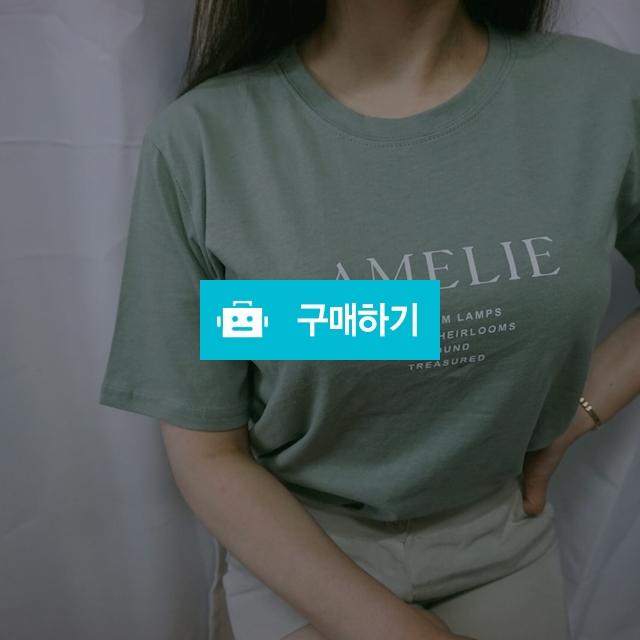 아멜리 레터링 반팔 티셔츠 / 32데이 / 디비디비 / 구매하기 / 특가할인