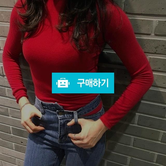 타이트 슬림핏 반목 컬러 봄 티셔츠 / 라벨르스타일 / 디비디비 / 구매하기 / 특가할인