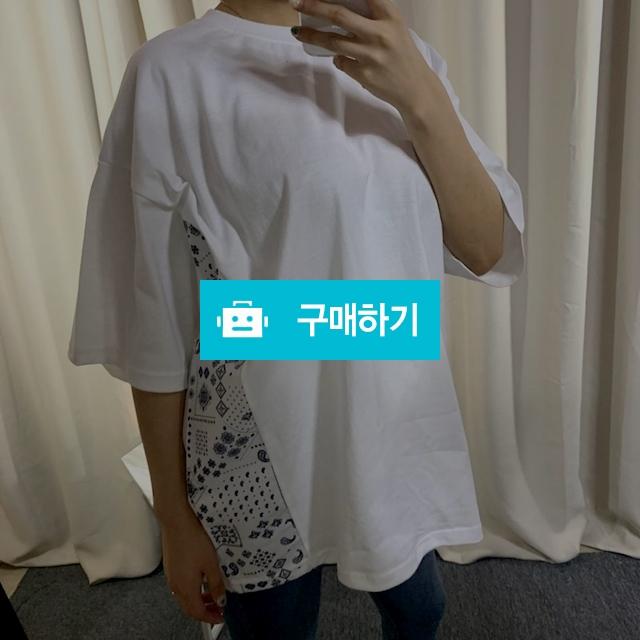 오버핏 페이즐리 반팔 티셔츠 / 데일리룩 멜로디민 / 디비디비 / 구매하기 / 특가할인
