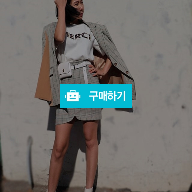 소매절개 체크 배색 봄자켓 / 더뉴(제이씨스타) / 디비디비 / 구매하기 / 특가할인