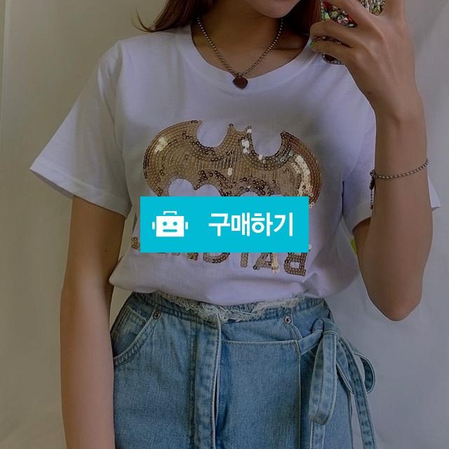 금장 스팽글 레터링 기본 티셔츠 / 점언니 / 디비디비 / 구매하기 / 특가할인