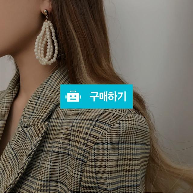 리카 쓰리라인 진주귀걸이 / 에그시티 / 디비디비 / 구매하기 / 특가할인