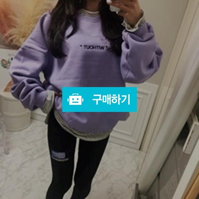 오버핏 라운드 자수 맨투맨 / 더희룸님의 스토어 / 디비디비 / 구매하기 / 특가할인