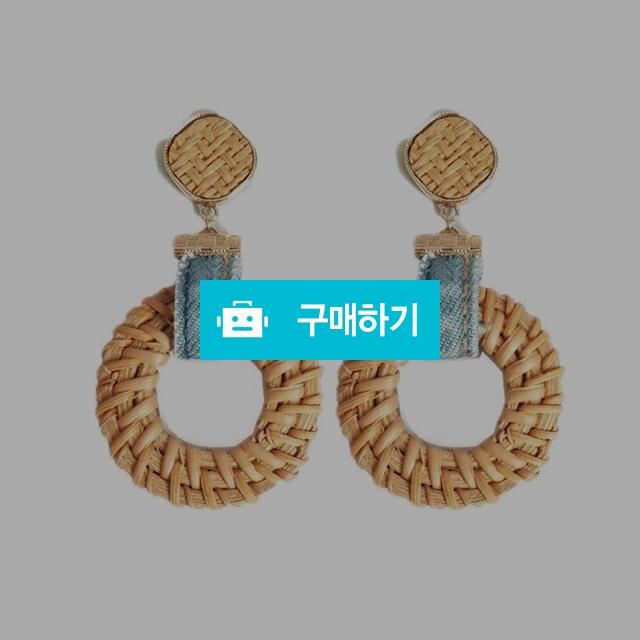 핸드메이드 라탄 귀걸이 데임귀걸이 여름 바캉스 귀걸이  / 체리코코아 / 디비디비 / 구매하기 / 특가할인