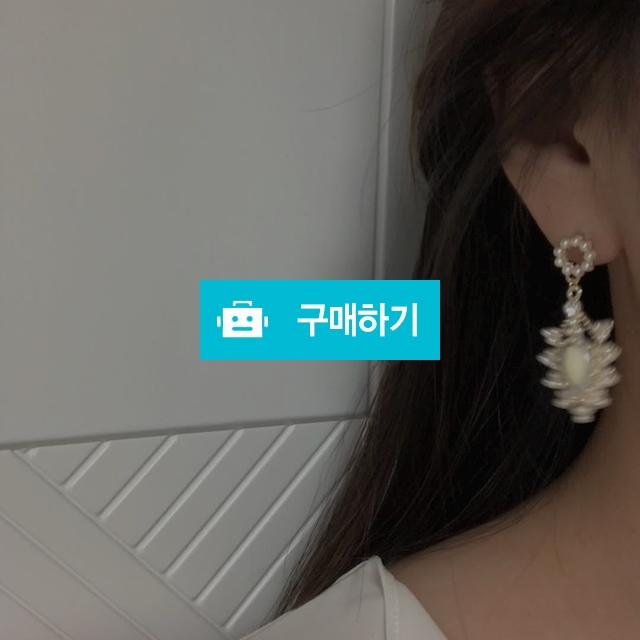(자체제작)미니 진주 아이보리 물방울 큐빅 화려한 포인트 귀걸이 / 주씨엘 / 디비디비 / 구매하기 / 특가할인