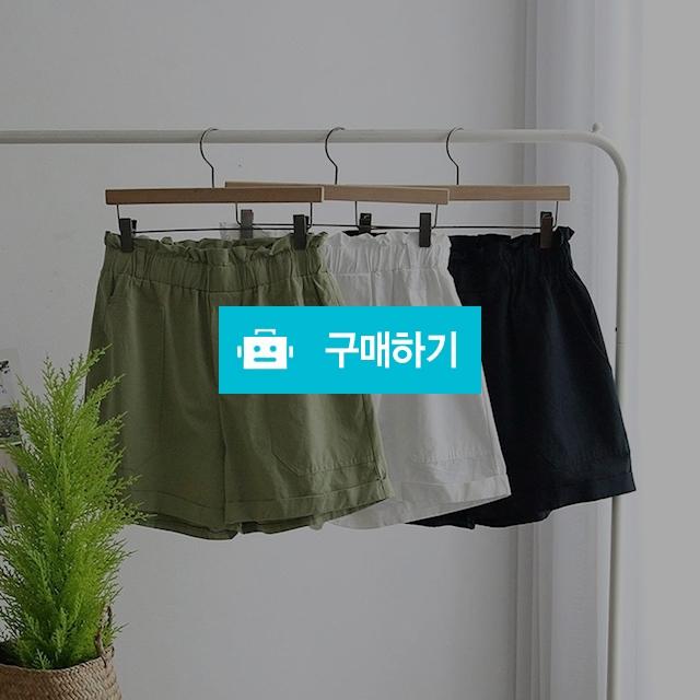 여자 여름 프릴 밴딩 포켓 스판 숏 반바지 / 옷자락 / 디비디비 / 구매하기 / 특가할인