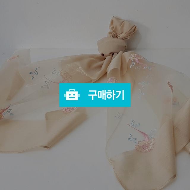 꽃자수 코튼폴리 스카프 미색 / 인사동어사프님의 스토어 / 디비디비 / 구매하기 / 특가할인