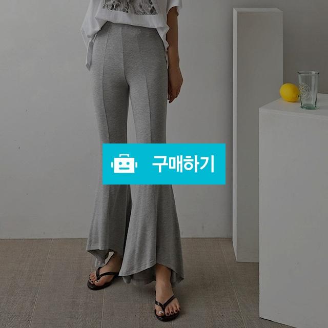 여성 스판 슬림핏 언발 라인 나팔 바지 팬츠 / 옷자락 / 디비디비 / 구매하기 / 특가할인