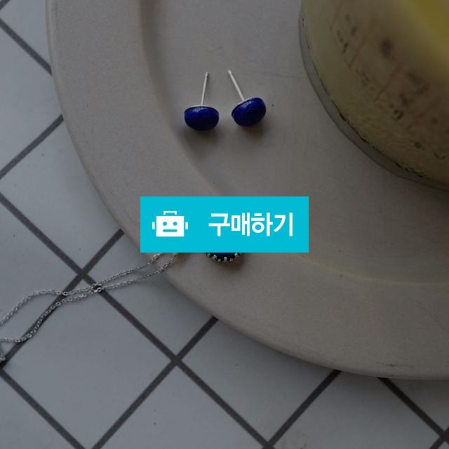 천연 라피스라줄리 원석 귀걸이 목걸이 세트 / 손수메이크 / 디비디비 / 구매하기 / 특가할인