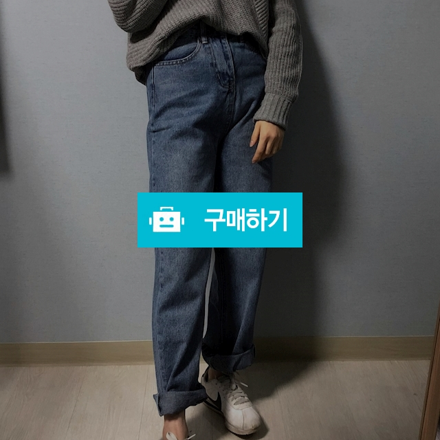 일자핏 롤업 데님 팬츠 / 마니에르님의 스토어 / 디비디비 / 구매하기 / 특가할인
