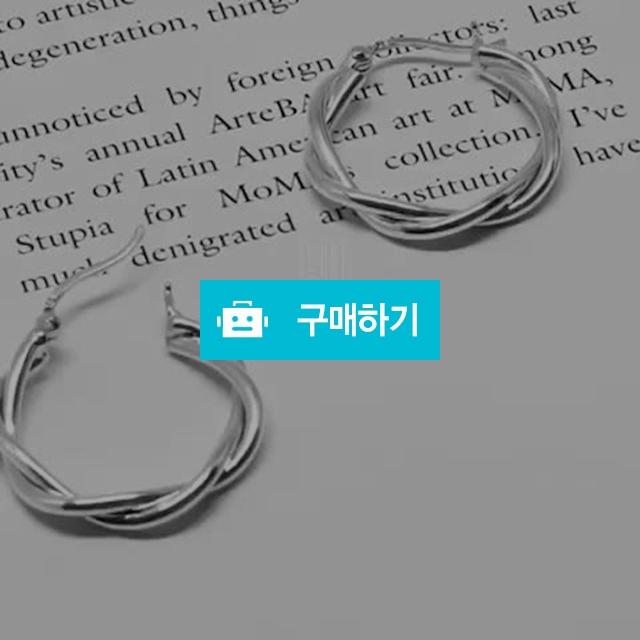 25mm 꽈배기 트위스트 두줄 꼬임 925 실버 원터치 링 귀걸이 / 플라타나인 / 디비디비 / 구매하기 / 특가할인