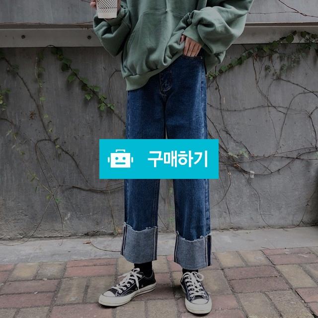 롤업 라인 일자핏 워싱 청 데님팬츠 / keemsoj님의 스토어 / 디비디비 / 구매하기 / 특가할인