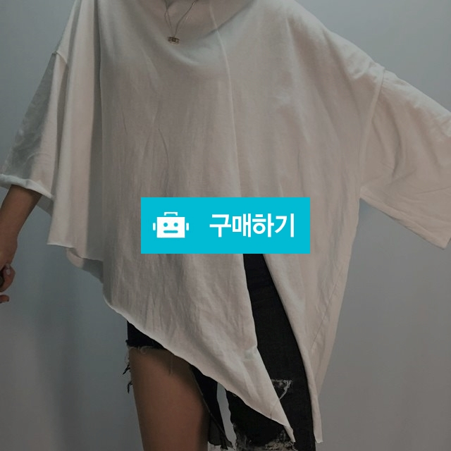 오버핏 슬릿 언발 박시 티셔츠 / nars4 / 디비디비 / 구매하기 / 특가할인