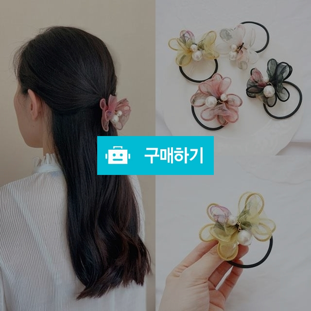 진주 리본 쉬폰 머리끈 / 예쁨마켓님의 스토어 / 디비디비 / 구매하기 / 특가할인