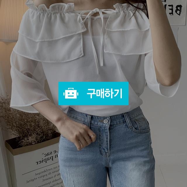 여리여리 오프숄더 캉캉 블라우스 / 데일리룩 멜로디민 / 디비디비 / 구매하기 / 특가할인