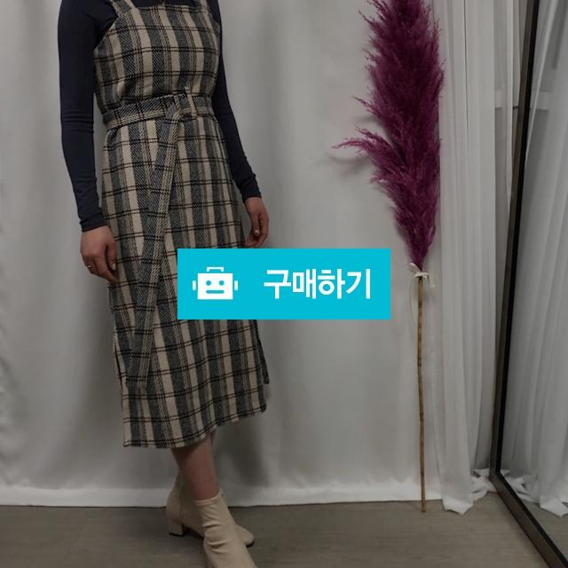 울 체크 뷔스티에 벨트 원피스 / 비쥬비님의 스토어 / 디비디비 / 구매하기 / 특가할인