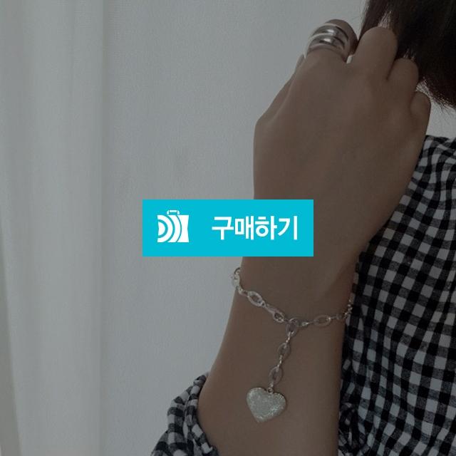 925실버 반짝이 통통하트 팔찌 / 러빙유 / 디비디비 / 구매하기 / 특가할인