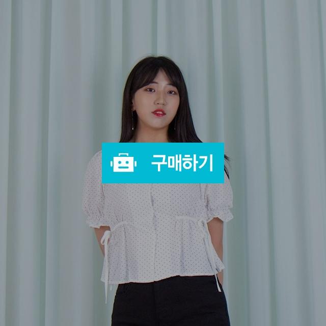 애니 도트 프릴 리본 셔링 숏 블라우스 BL / 모모 / 디비디비 / 구매하기 / 특가할인
