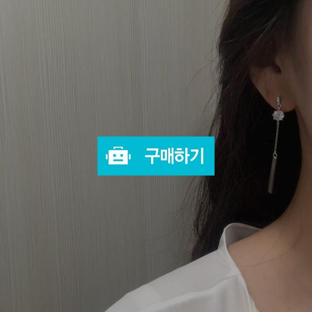 동그라미 큐빅 스틱 체인 드롭 김비서 귀걸이 / 주씨엘 / 디비디비 / 구매하기 / 특가할인
