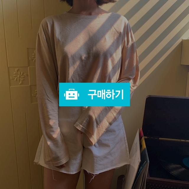 루즈핏 보트넥 무지 긴팔 티셔츠 / 숨띵 / 디비디비 / 구매하기 / 특가할인