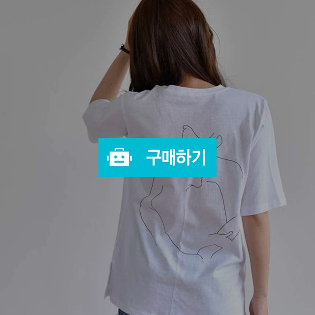 허그 드로잉 반팔 티셔츠 / 데일리룩 멜로디민 / 디비디비 / 구매하기 / 특가할인