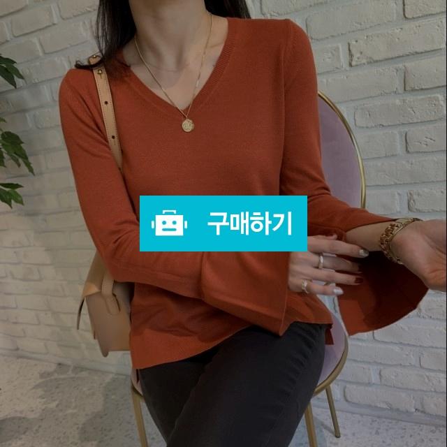 기본핏 언발 소매 트임 니트 / L e v / 디비디비 / 구매하기 / 특가할인