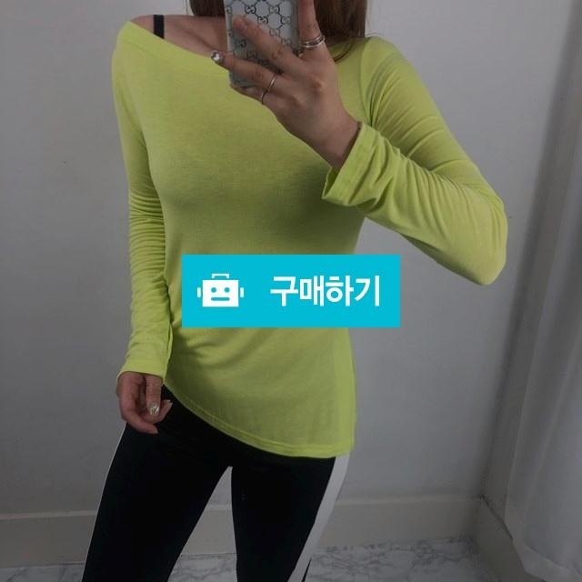 청순+섹시 오프숄더 사선 여리핏 텐셀 티셔츠 / 비쥬비님의 스토어 / 디비디비 / 구매하기 / 특가할인
