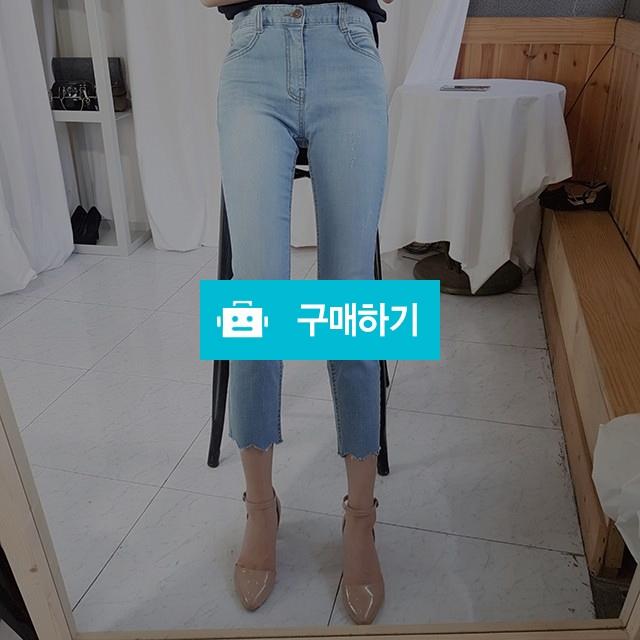 여자여름청바지 스판 연청 물결 컷팅 / 로즈앤카라 / 디비디비 / 구매하기 / 특가할인