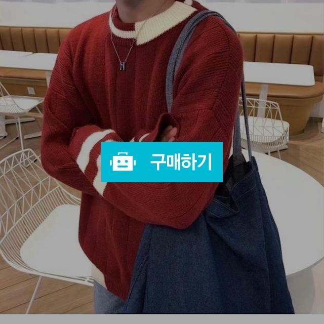 오버핏 남녀공용 2선배색니트 / wook님의 스토어 / 디비디비 / 구매하기 / 특가할인