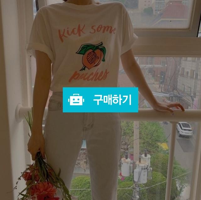 피치 복숭아 티셔츠  / 릴리스타일 / 디비디비 / 구매하기 / 특가할인