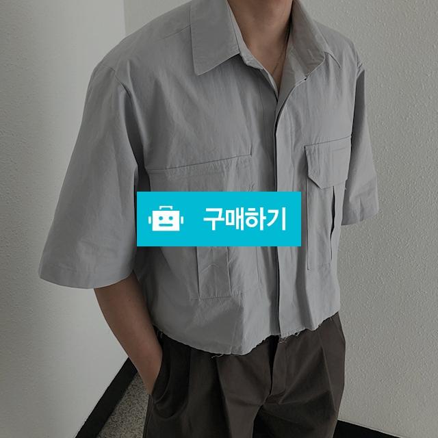 [트렌드리스] 포켓 언발 크롭 반팔셔츠 / 트렌드리스 / 디비디비 / 구매하기 / 특가할인