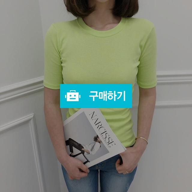 여자 기본 스판 슬림 라운드넥 쫀쫀 여름 반팔 티셔츠 5color / 유픽 / 디비디비 / 구매하기 / 특가할인