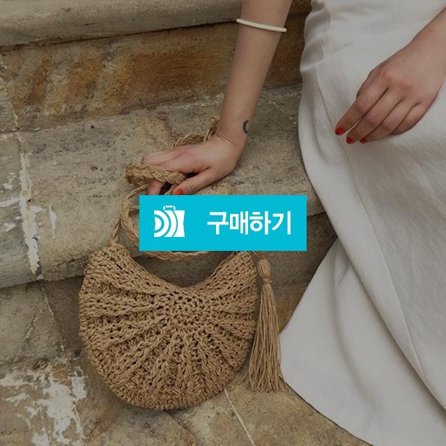 여름 휴양지 라탄 왕골 미니 반달 반원 크로스백 / 다또네소품샵 / 디비디비 / 구매하기 / 특가할인